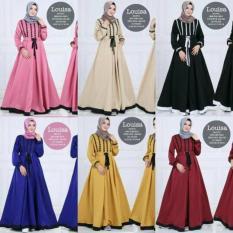 Spesifikasi Louisa Dress Atasan Baju Pakaian Muslim Gamis Dress Maxi Wanita Murah