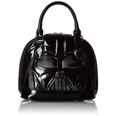 Loungefly Star Wars Darth Vader Patent Mini Dome Top Handle Bag, Black, One Size - intl