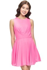 Beli Love Key Hole Double Pleat Dress Pink Murah Di Indonesia
