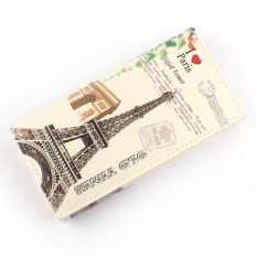Spesifikasi Love Tower Pattern Women Long Purse Clutch Wallet Bag Card Holder Oem