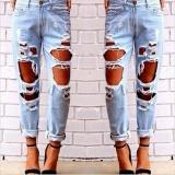 Beli Loveu Store Women S Jeans Robek Jeans Loose Fit Ukuran Besar Liar Seksi Berlebihan Lubang Besar Pengemis Pacar Jeans Fashion Wanita Pakaian Intl Loveu