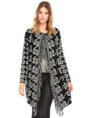 Jual Low Profit Sunweb Women Casual O Neck Long Sleeve Front Open Prints Worn Tassel Winter Sweater Cardigan Neutral Intl Not Specified Di Hong Kong Sar Tiongkok