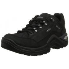 Lowa Mens RENEGADE II GTX LO Hiking Sepatu, Hitam/Hitam, KAMI-Internasional