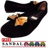 Jual Lt Flat Shoes Suede Hitam Murah Di Dki Jakarta