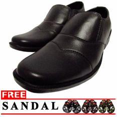 Model Lt Sepatu Pantofel Slip On Hitam Terbaru