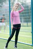 Beli Luar Ruangan Kebugaran Pakaian Berjalan Pakaian Yoga Olahraga Lengan Panjang T Shirt Jas Tiga Sisi Rose Celana Rose T Shirt Cicilan