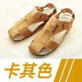 Beli Sandal Summer Luar Rumah Pria Pantai Sepatu Sol Karet Musim Panas Coklat Muda Sepatu Pria Sepatu Sendal Baru