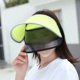 Toko Wanita Musim Panas Pelindung Terik Matahari Topi Topi Pelindung Sinar Matahari Hijau Neon Termurah Tiongkok