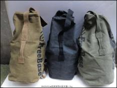 Luar Rumah Kanvas Pria Dan Wanita Tabung Bulat Tas Tas Ransel (Besar Coklat Muda Warna)