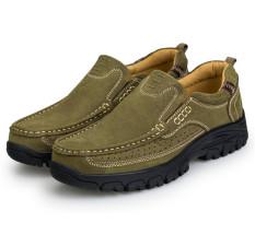 Camel Model Baru Sepatu Pria Kulit Asli Sepatu Kulit Kasual Anti Selip  Olahraga Luar Ruang Sepatu c6caa494e1