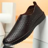 Spesifikasi Lubang Sepatu Pria Sandal Sandal Kasual Pria Bernapas Ini Brown Set Kaki Terbaik