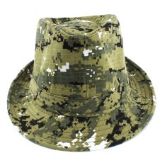 Luck Topi Fedora Army 1605-09 - Hijau