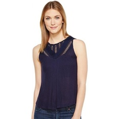 Lucky Brand Womens Mixed Lace Yoke Tank Top, American Navy, - intl
