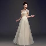 Obral Lucky Gift Pernikahan Mempelai Wanita Toast Pengiring Pengantin Gaun Gaun Malam Warna Kuning Muda Murah