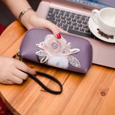 Harga Lucu Baru Bagian Panjang Wallet Clutch Tas White Rose Tiongkok