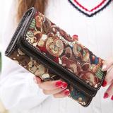 Review Terbaik Linjiaxiaofei Baru Perempuan Jepang Dan Korea Fashion Style Multifungsi Clutch Tas Wanita Bagian Panjang Wallet Kopi