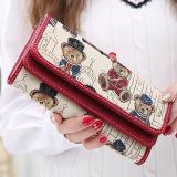 Jual Beli Linjiaxiaofei Baru Perempuan Jepang Dan Korea Fashion Style Multifungsi Clutch Tas Wanita Bagian Panjang Wallet Merah Tiongkok