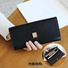 Beli Baodao Dompet Wanita Aneka Warna Model Panjang Sederhana Kotak Logam Model Hitam Di Tiongkok