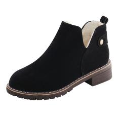 Beli Byl Lulur Beludru Hangat Dengan Pendek Sepatu Santai Dr Martens Hitam Sepatu Wanita Sepatu Boot Wanita Cicilan