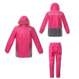 Luminous Menebal Rain Coat Suit Pink Diskon Tiongkok