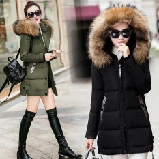 Lunar Valley 2017 Latest Brand New Cotton Padded Coat Women Winter Jacket Fur Hooded Parka Long Coats Yellow Int Xxl Intl Hong Kong Sar Tiongkok Diskon 50