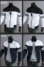 Lunar Valley 2018 Baru Seksi Penjualan Jaket Pria Ritsleting Hoodie Anak Laki-laki Sportswear Musim Dingin Sweter Tanpa Kancing ᆪᄄsizeᆪᄎxs-Xxlᆪᄅ-Putih & Hitam-L-Internasional