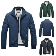 Spesifikasi Lunar Valley 3 Warna Produk Panas Casual Slim Fit Pria Spring Pria Solid Jaket Fashion Mandarin Collar Jaket Ukuran M 5Xl Blue Int M Intl Bagus