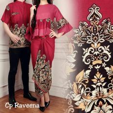 lunashop fashion couple set raveena warna merah pakaian model terbaru pria ataupun wanita dan terlaris