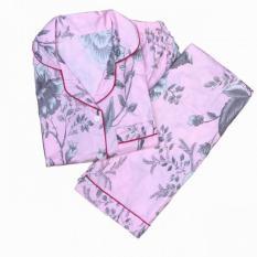 lunashop fashion pakaian baju tidur corak bunga celana panjang bahan adem kualitas bagus