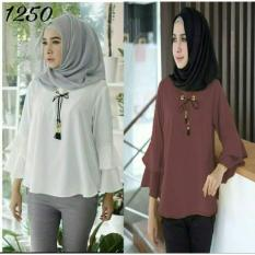 lunashop fashion pakaian wanita Misya Blouse cocok untuk wanita pakaian berjilbab dan tidak pakai jilbab