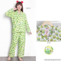 Lunashop Fashion Piyama Celana Panjang Baju Tidur Wanita Dewasa Corak Warna Hijau Dki Jakarta Diskon 50