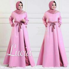 lunashop fashion wanita maxi lucia warna pink model terbaru dari toko lunashop