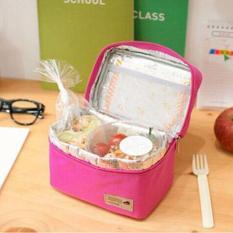 Lunch Bag Cooler Bag Tas Bekal Makan atau Tas ASI - Pink