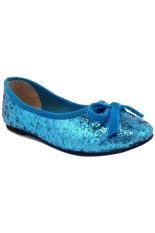 Diskon Lunetta Sepatu Anak Perempuan Flat Shoes Glitter Biru Indonesia