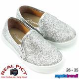 Toko Lunetta Sepatu Anak Perempuan Glitter Diamond Dust Fps Silver Lunetta Indonesia