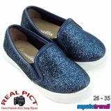 Beli Lunetta Sepatu Anak Perempuan Slip On Diamond Dust Fps Navy Lunetta
