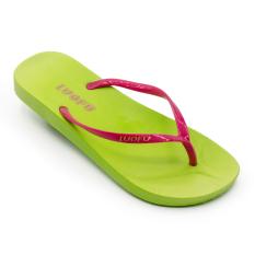 Luofu Kasual Perempuan Sendal Jepit Kaki Tergelincir Her Datar (Model Wanita + Di Crimson Condos Nike Di Hijau)