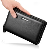 Toko Luxury Brand Business Men Wallets Long Pu Men S Leather Cell Phone Clutch Purse Handy Bag Top Zipper Large Wallet Purse Black Intl Terlengkap Di Tiongkok