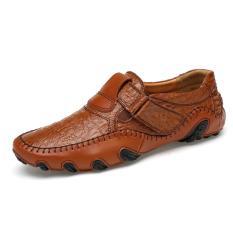 Beli Merek Mewah Pria Kulit Asli Alas Kaki Laki Laki Besar Mengemudi Sepatu Kualitas Baik Lembut Pria Loafers Internasional Online