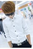 Jual Beli Baju Panjang Lengan Mewah Bergaya Kasual Pria Langsing Cocok Kaos Putih Baru Hong Kong Sar Tiongkok