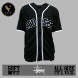 Jual Lvnk • Jersey Baseball Baju Baseball Baju Hiphop Stussy Hitam Tidak Ada Merek Asli