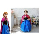 Beli Lynn Design Baju Dress Kostum Anak Gaun Pesta Frozen Princess Anna Elsa Jubah Merah Kredit