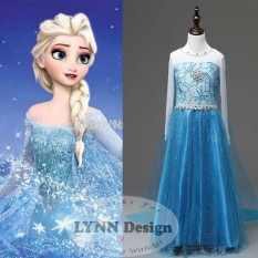 Lynn Design - Baju Dress Kostum Princess Frozen Elsa Anak