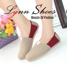 Harga Lynn Sepatu Balet Wakai Wanita Slip On Sw1Wjcr Cream Murah