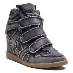 Jual Lzd Wedge Hidden Sneaker Black Branded Murah
