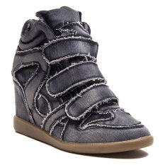 Spesifikasi Lzd Wedge Hidden Sneaker Black Baru