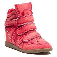 Beli Lzd Wedge Hidden Sneaker Red Nyicil