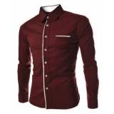 Spesifikasi M Fashion Kemeja Pria Peter Lengan Panjang Kemeja Polos Lengkap Dengan Harga