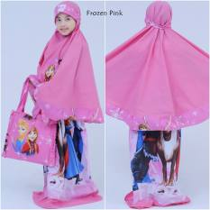 Jual Madeena Mukena Anak Fro Pink Lucu Original