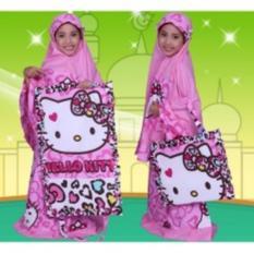Madeena - Mukena Anak Karakter Hello Kitty Leopard - Pink